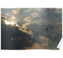 Dancing on a Sun Ray Poster