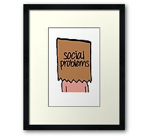 Social Problems Framed Print