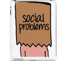 Social Problems iPad Case/Skin