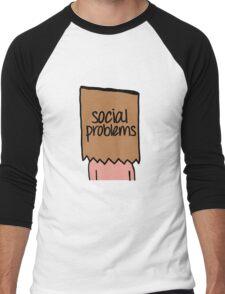 Social Problems Men's Baseball ¾ T-Shirt
