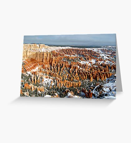 Snow on Bryce Amphitheater Greeting Card