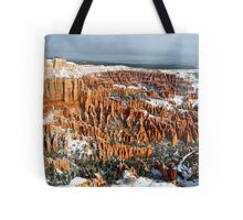 Snow on Bryce Amphitheater Tote Bag