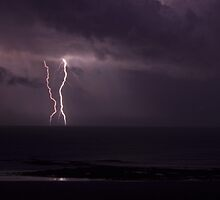 cable beach lightning by Elliot62