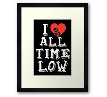 I HEART ALL TIME LOW Framed Print