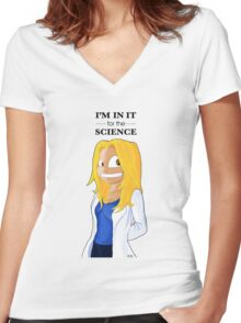 The Human Doctor Women's Fitted V-Neck T-Shirt