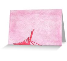 Giant Crane on Puget Sound, Seattle Greeting Card