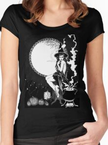 Halloween Witch Women's Fitted Scoop T-Shirt