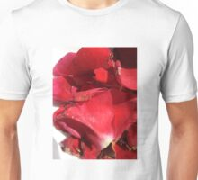 Red rose petals 2 Unisex T-Shirt