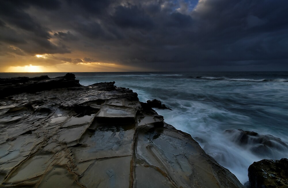 Stormy Bass Coast Dawn by Robert Mullner
