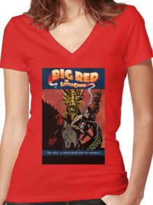 Hellboy/Big Trouble in Little China Mashup Women's Fitted V-Neck T-Shirt
