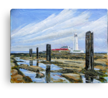 Rock Pools @ St Mary's light house  Canvas Print
