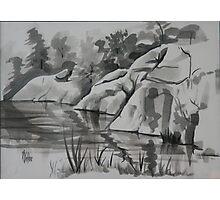 Quarry, Elephant Rocks State Park Photographic Print
