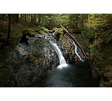 Foote Brook, Upper Falls, Autumn Photographic Print