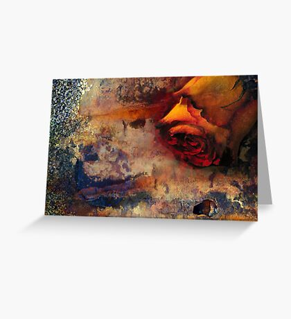 rusted rose Greeting Card