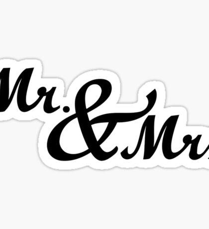 Mr & Mrs Wedding Sticker