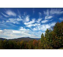 Mount Mansfield Sky Photographic Print