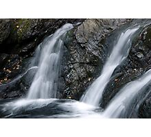 Foote Brook, Lower Falls, Autumn Photographic Print