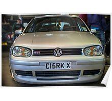 Silver VW Golf GTi Poster