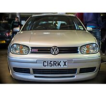 Silver VW Golf GTi Photographic Print