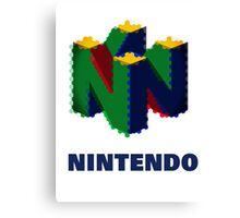 Nintendo Logo - Colour  Canvas Print