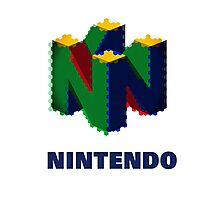 Nintendo Logo - Colour  Photographic Print