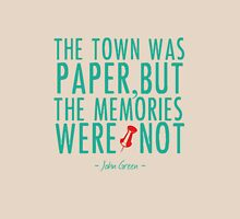 "Paper Towns - ""The Memories Were Not"" Womens Fitted T-Shirt"
