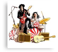 White Stripes Duo Canvas Print