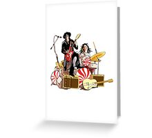 White Stripes Duo Greeting Card