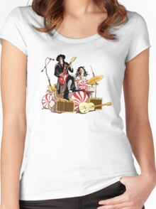 White Stripes Duo Women's Fitted Scoop T-Shirt