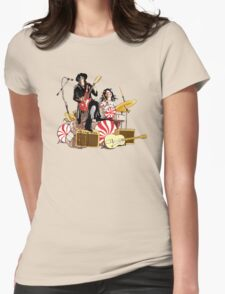 White Stripes Duo Womens Fitted T-Shirt