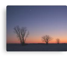 Prairie Winter Dusk! Canvas Print