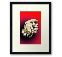 No Guns! Framed Print