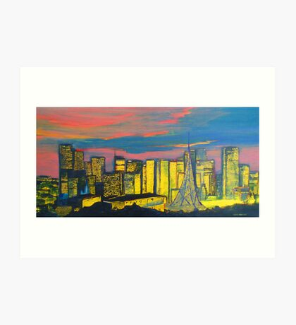 Melbourne City at Dusk Art Print
