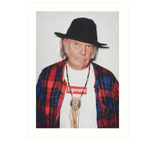 Neil Young for Supreme Media Cases, Pillows, and More. Art Print