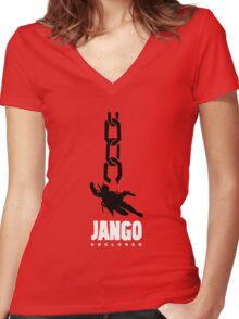 JANGO UNCLONED Women's Fitted V-Neck T-Shirt
