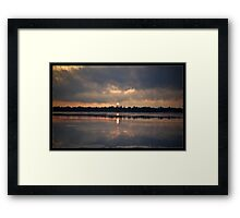 Sunrise Melt Framed Print