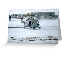 Westland Lynx HAS.2 XZ257/346 landing at RAF Stanley Greeting Card