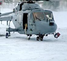 Westland Lynx HAS.2 XZ257/346 landing at RAF Stanley Sticker