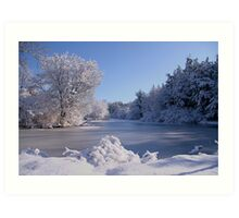 Winter Scene 3 Art Print