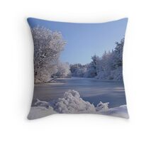 Winter Scene 3 Throw Pillow