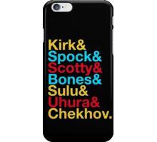STAR TREK ORIGINAL  Mr. Spock Captain Kirk Uhura Sulu Mr. Chekhov Dr. Bones McCoy  iPhone Case/Skin