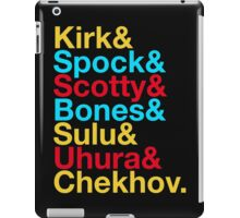 STAR TREK ORIGINAL  Mr. Spock Captain Kirk Uhura Sulu Mr. Chekhov Dr. Bones McCoy  iPad Case/Skin