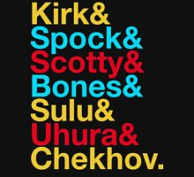 STAR TREK ORIGINAL  Mr. Spock Captain Kirk Uhura Sulu Mr. Chekhov Dr. Bones McCoy  Unisex T-Shirt