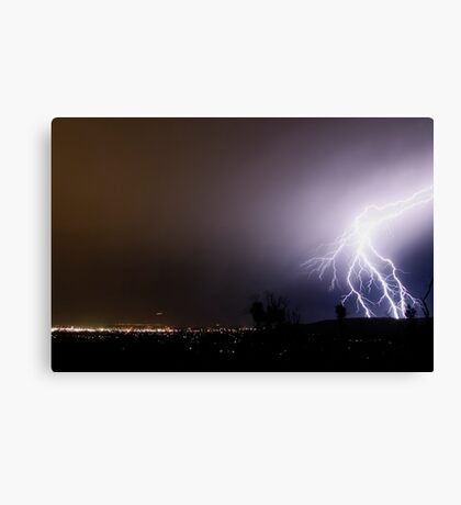 Fork Lightning Canvas Print