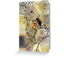 Detailed Cogs with Colour Greeting Card