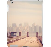Vintage view of Manhattan from the pier iPad Case/Skin