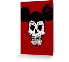 Mickey Skull. Greeting Card