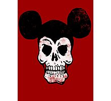 Mickey Skull. Photographic Print