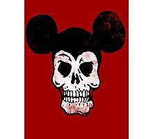 Mickey Skull. Photographic Print