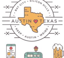 Austin Texas Essentials Sticker